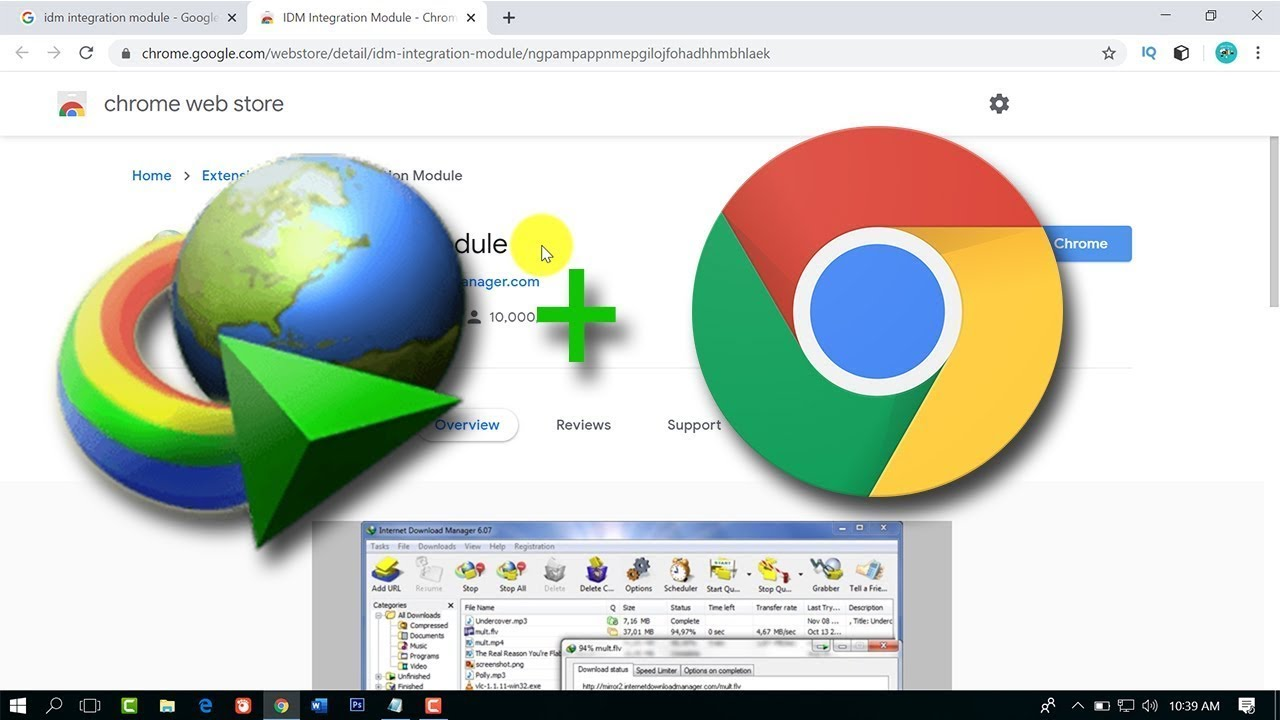 Memasang IDM Di Google Chrome Windows 10