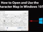 Membuka Character Maps Pada Windows 10